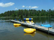 Use of our Hydrobikes, Kayaks, Paddleboats, funbugs, canoe are included with your Lodging Rate