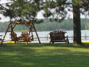 Lakeside Cedar Swing & Chair