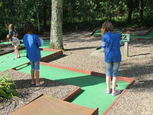 Mini-Golf is fun for All Ages!  Our guests can also sign up for our weekly tournament!