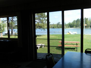 Lakeside windows and Patio Door - what a view of the lake!
